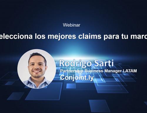 Ver Video Webinar: Selecciona los mejores claims para tu marca con Rodrigo Sarti de Conjoint.ly